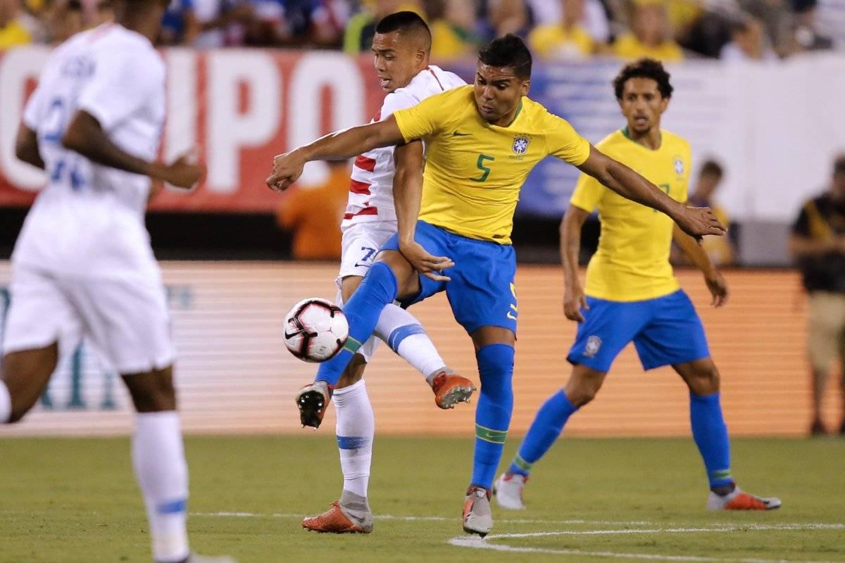 Casemiro fue una muralla en la defensa brasileña