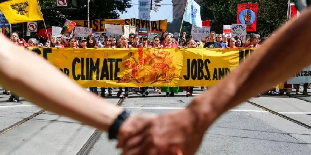 Manifestación planetaria ante la urgencia del cambio climático