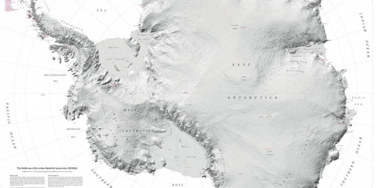 La Antártida como nunca antes la habías visto: lanzan mapa de más alta resolución que se haya creado