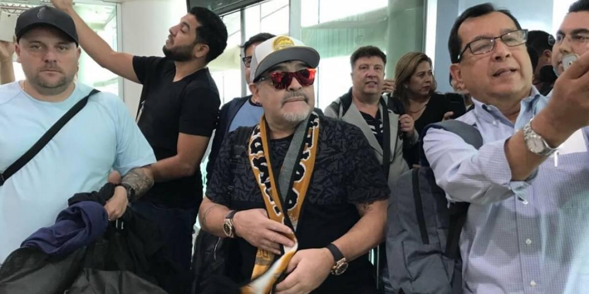 Maradona espera que lo dejen trabajar con Dorados