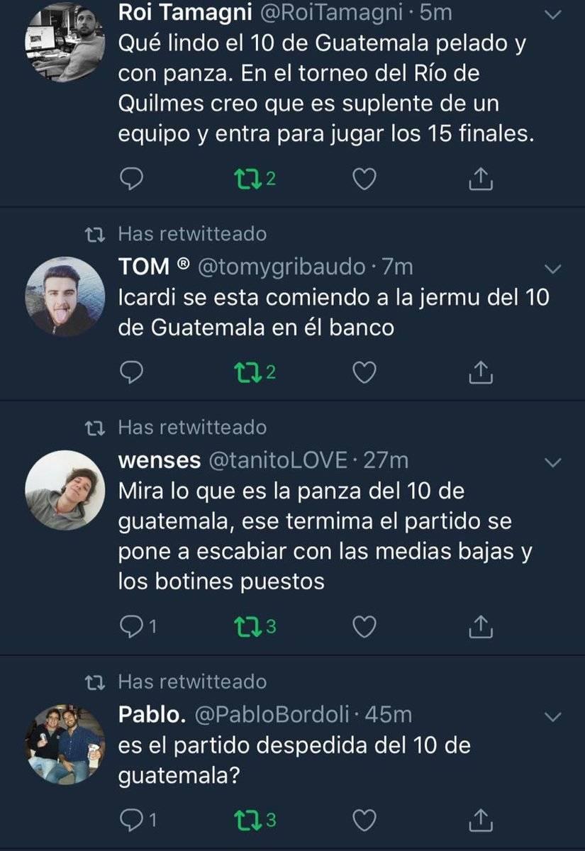 Uno de los comentarios donde se brulan de Contreras.