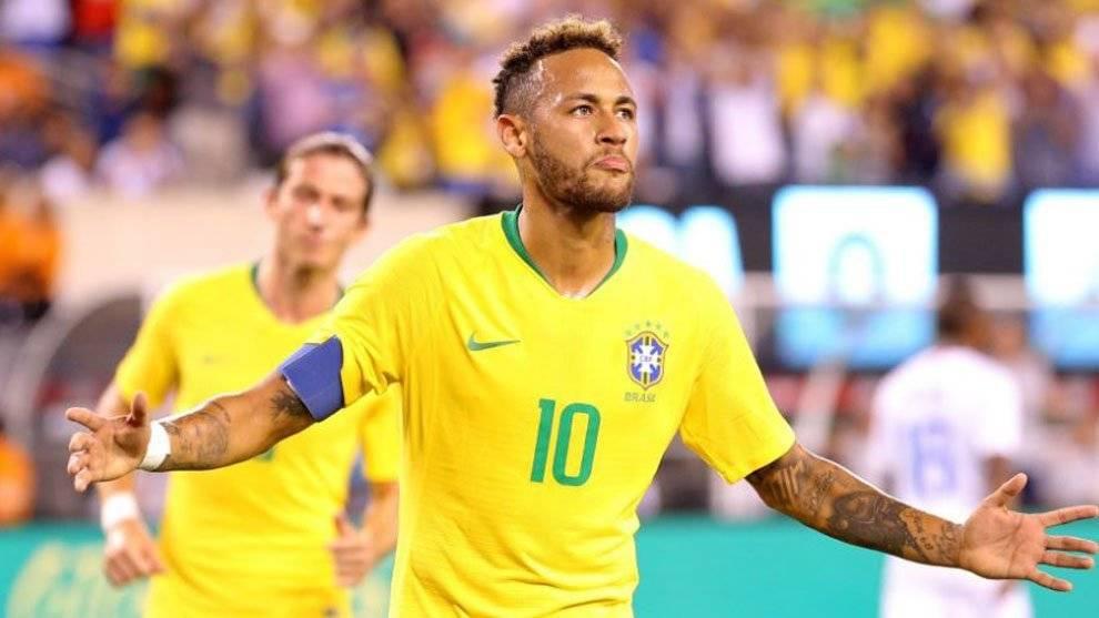 Neymar marcó el segundo gol