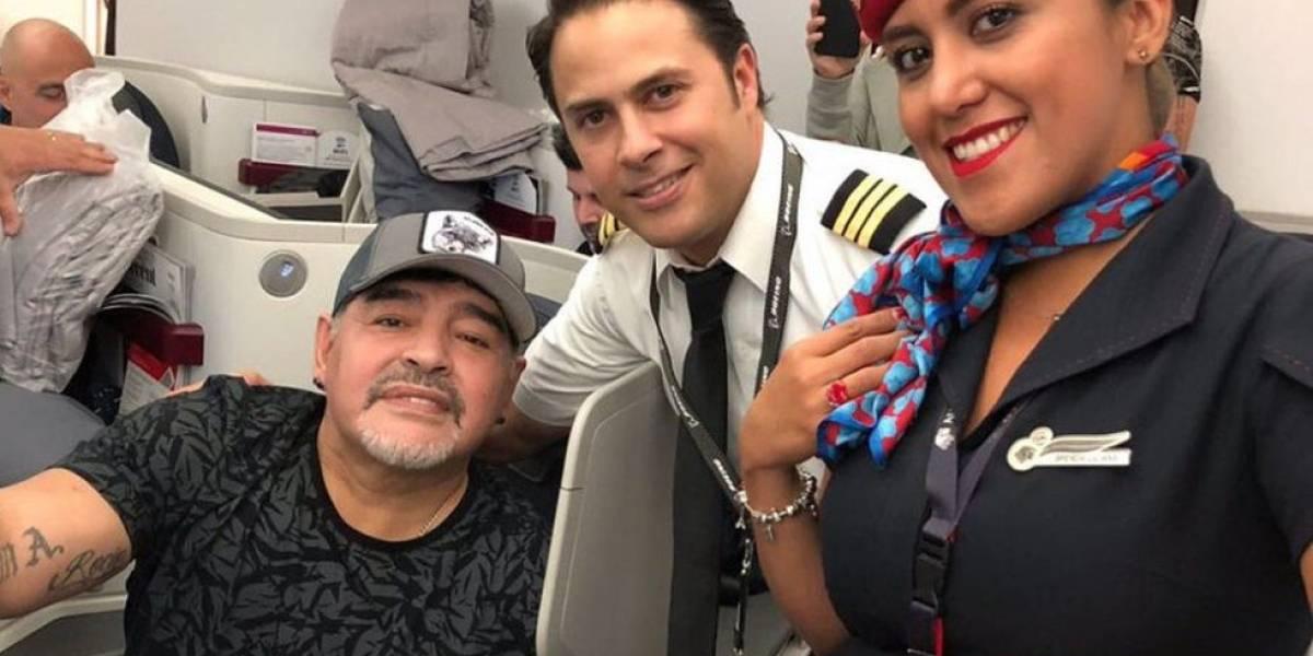 Maradona ya está en México para unirse a su nuevo equipo