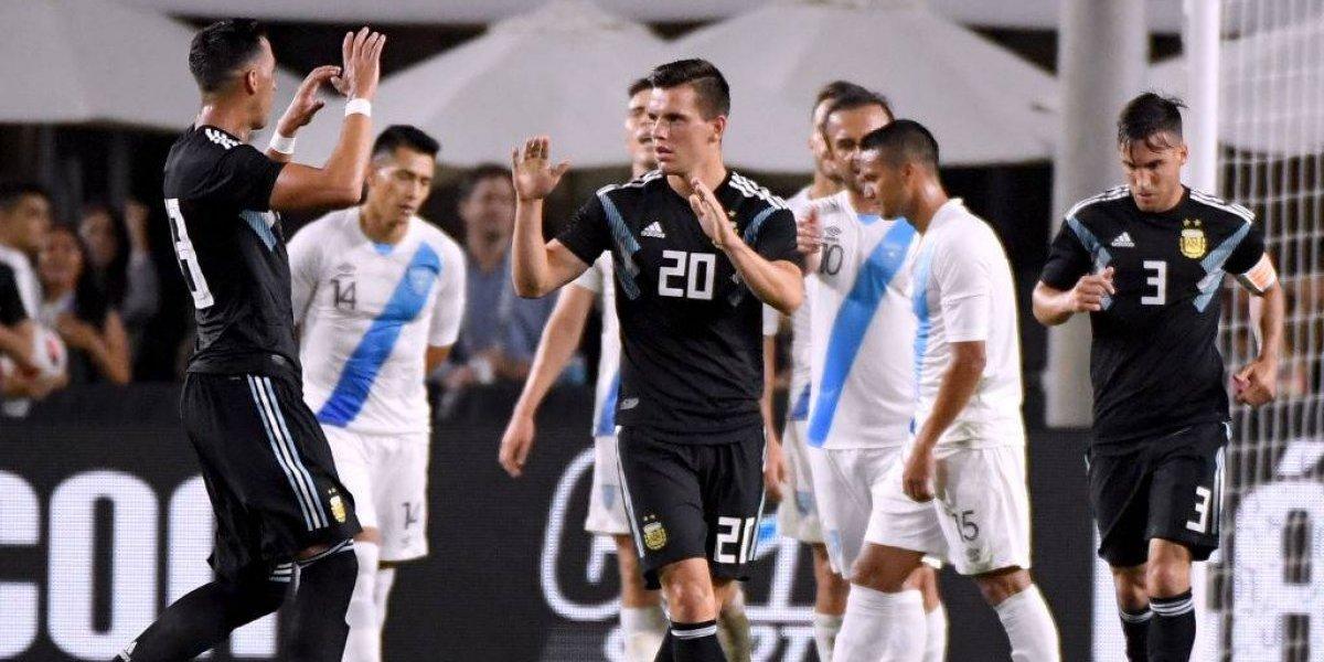Argentina golea en su primera presentación post era Sampaoli