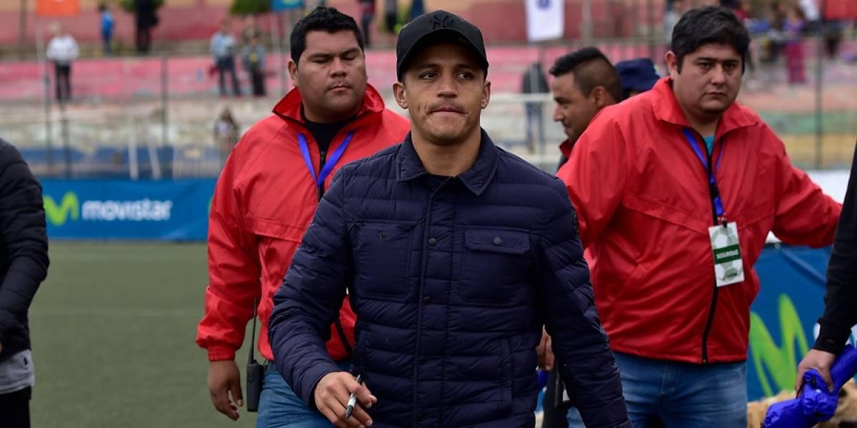 Alexis sorprende viajando a Santiago y entrenando en Pinto Durán