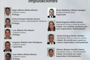 """Sospechosos en el caso """"Traficantes de influencias""""."""