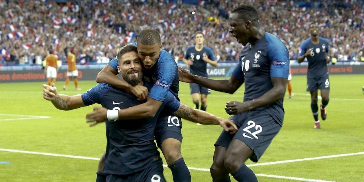 Francia obtiene su primer triunfo en la Liga de Naciones
