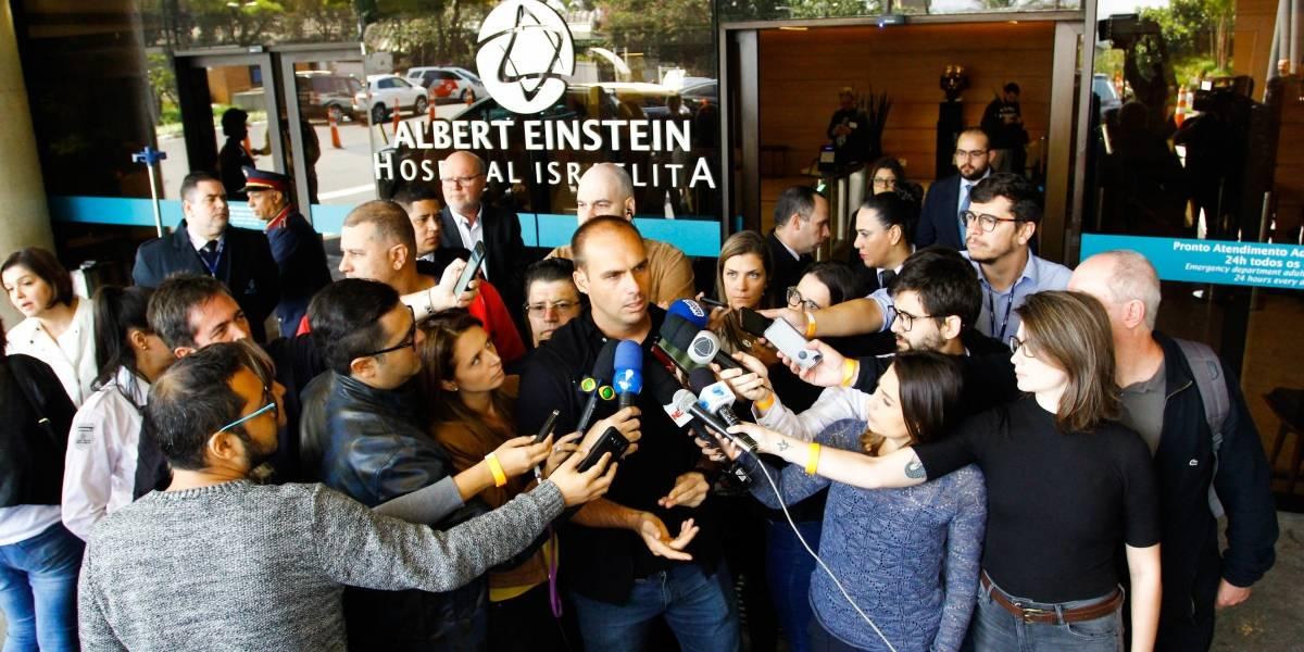 Eduardo Bolsonaro nega que pai propague violência e ódio