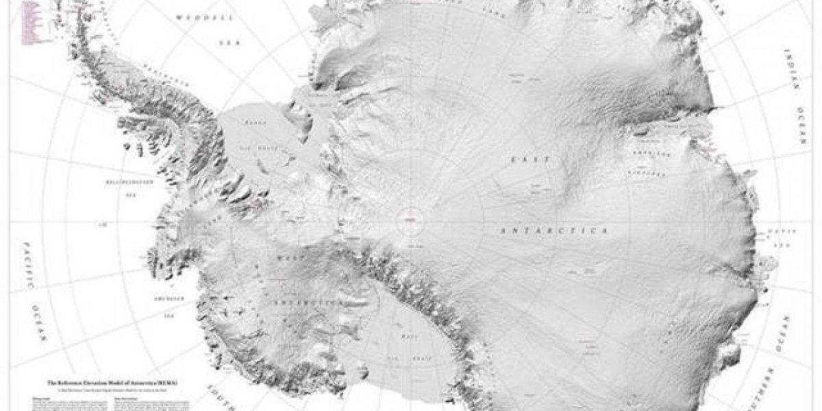 La Antártida cuenta ahora con el mejor mapa topográfico de la Tierra