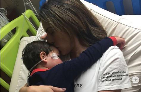 El hijo de Carolina Soto tuvo que ser hospitalizado