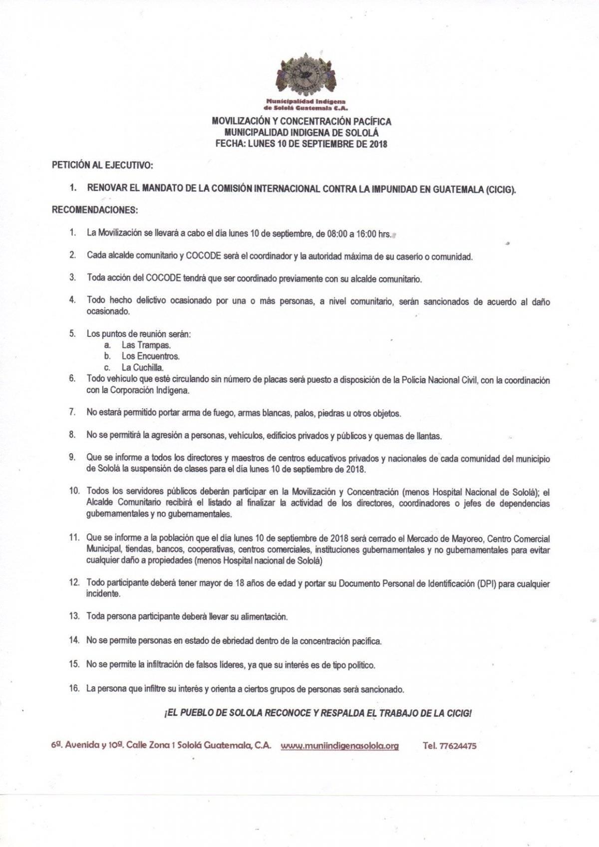 Municipalidad Indígena de Sololá