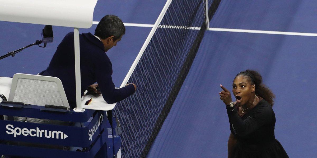 US Open multa a Serena Williams con $17,000