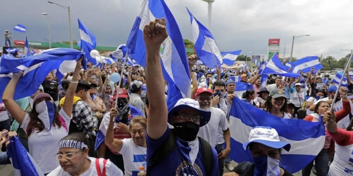 Protestan contra Ortega y por la liberación de detenidos en Nicaragua