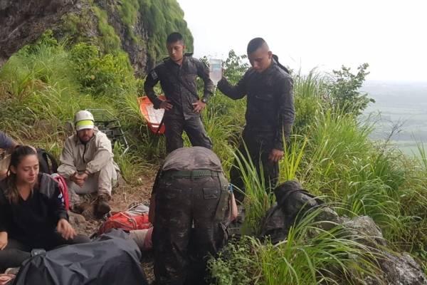 Turistas rescatados en Los Tres Picachos