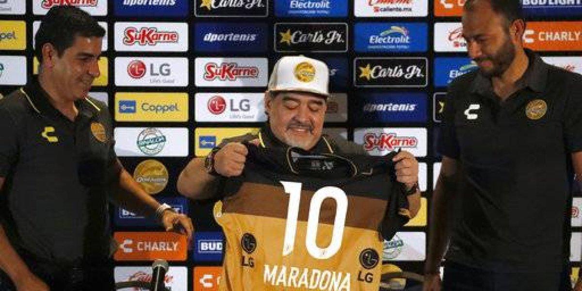 """La promesa que realizó Diego Maradona en su presentación en Dorados: """"No venimos de paseo, venimos a trabajar"""""""