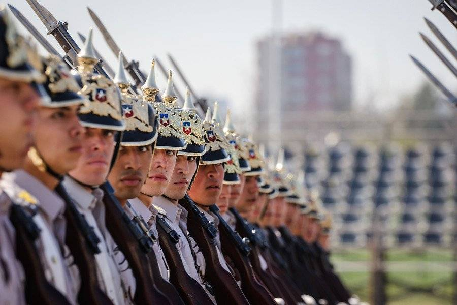 Parada militar ensayo