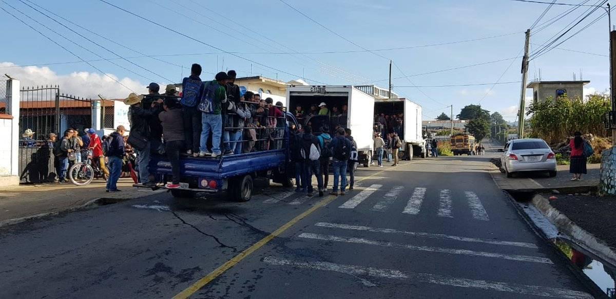 bloqueos en Sololá a favor de CICIG