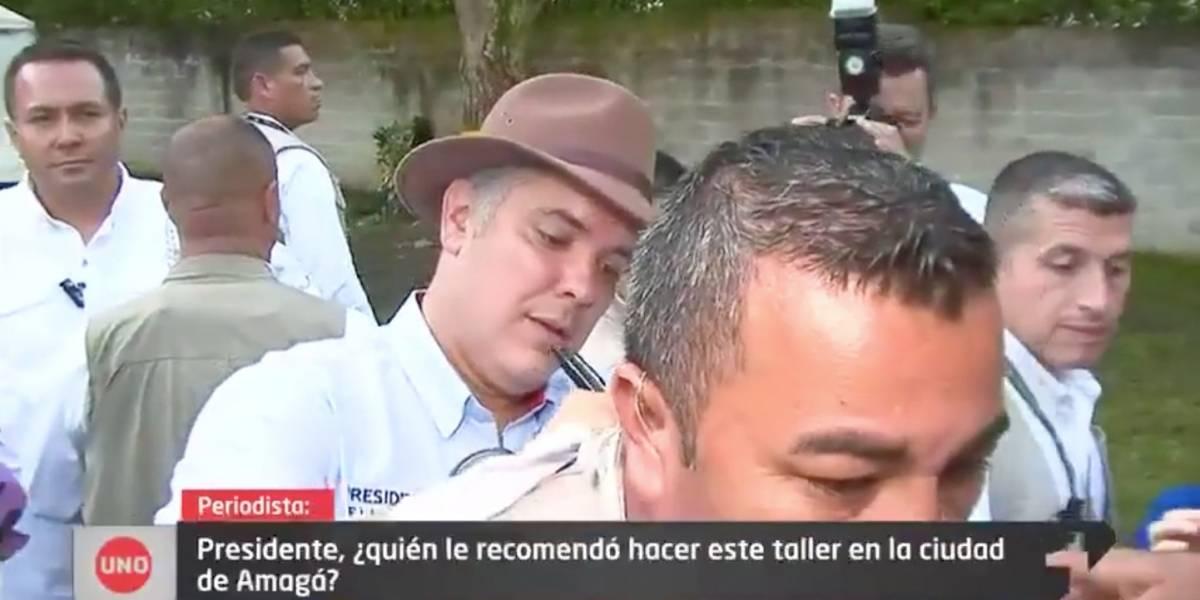 ¡Igualito a Uribe! Duque se negó a contestar pregunta incómoda de Noticias Uno