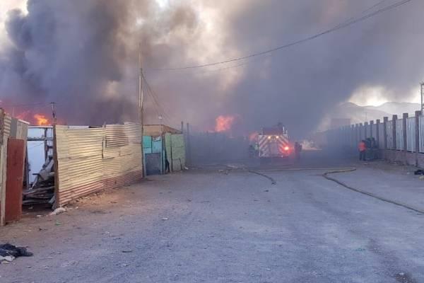 Incendio en Calama