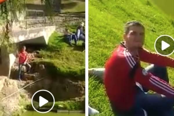 Con video denuncian hombre que agrede a los patos del Parque Timiza