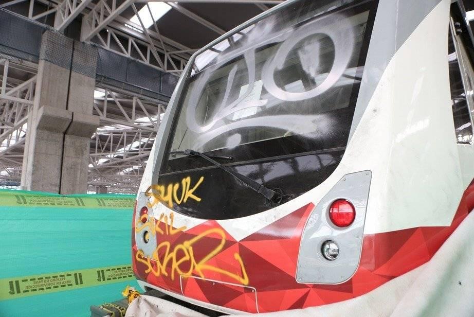 Actos vandálicos contra el tren del Metro de Quito