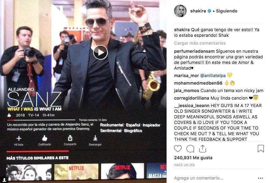 El documental de Netflix que recomienda Shakira
