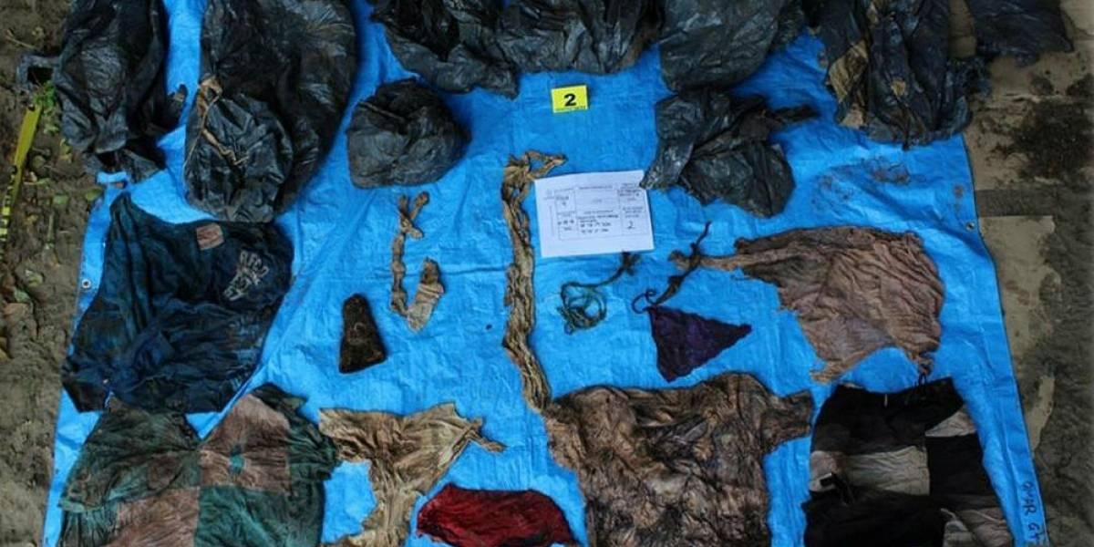 Encuentran ropa de bebé en fosa clandestina de Veracruz