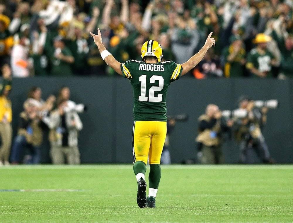 Rodgers conectó tres pases de anotación. / Getty Images