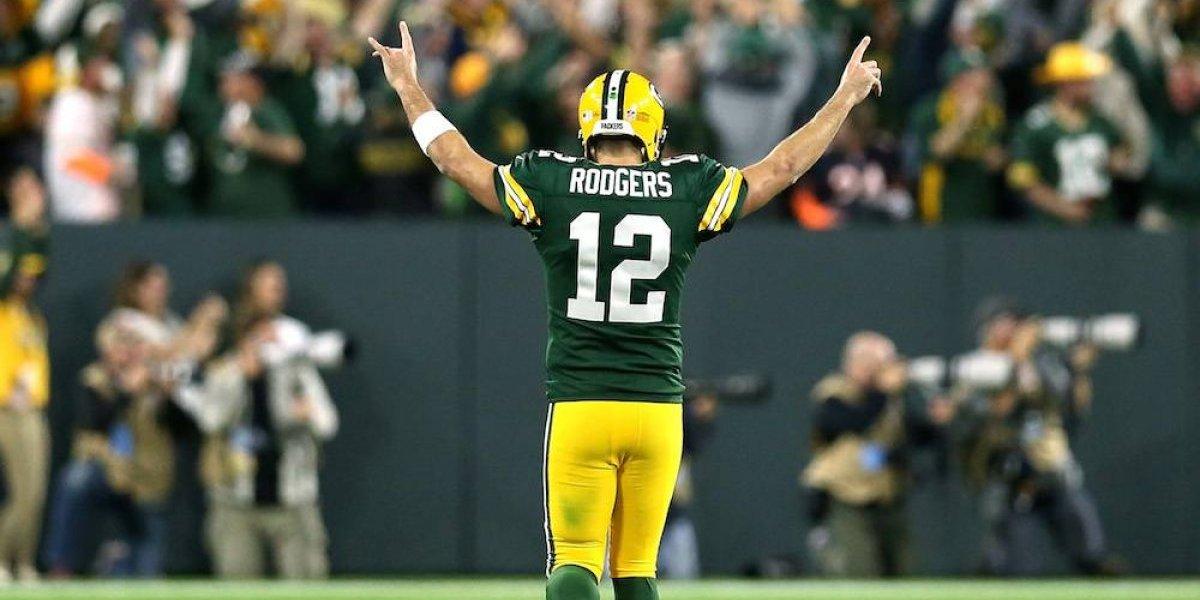 Aaron Rodgers 'revivió' para volver y dar triunfo a Packers sobre Bears