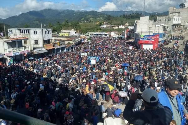 Manifestación pacífica Los Encuentros