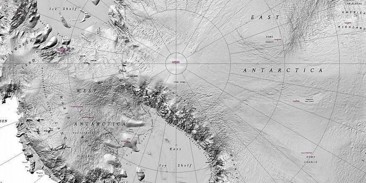 Liberan el mapa de la Antártida con más precisión hasta el momento