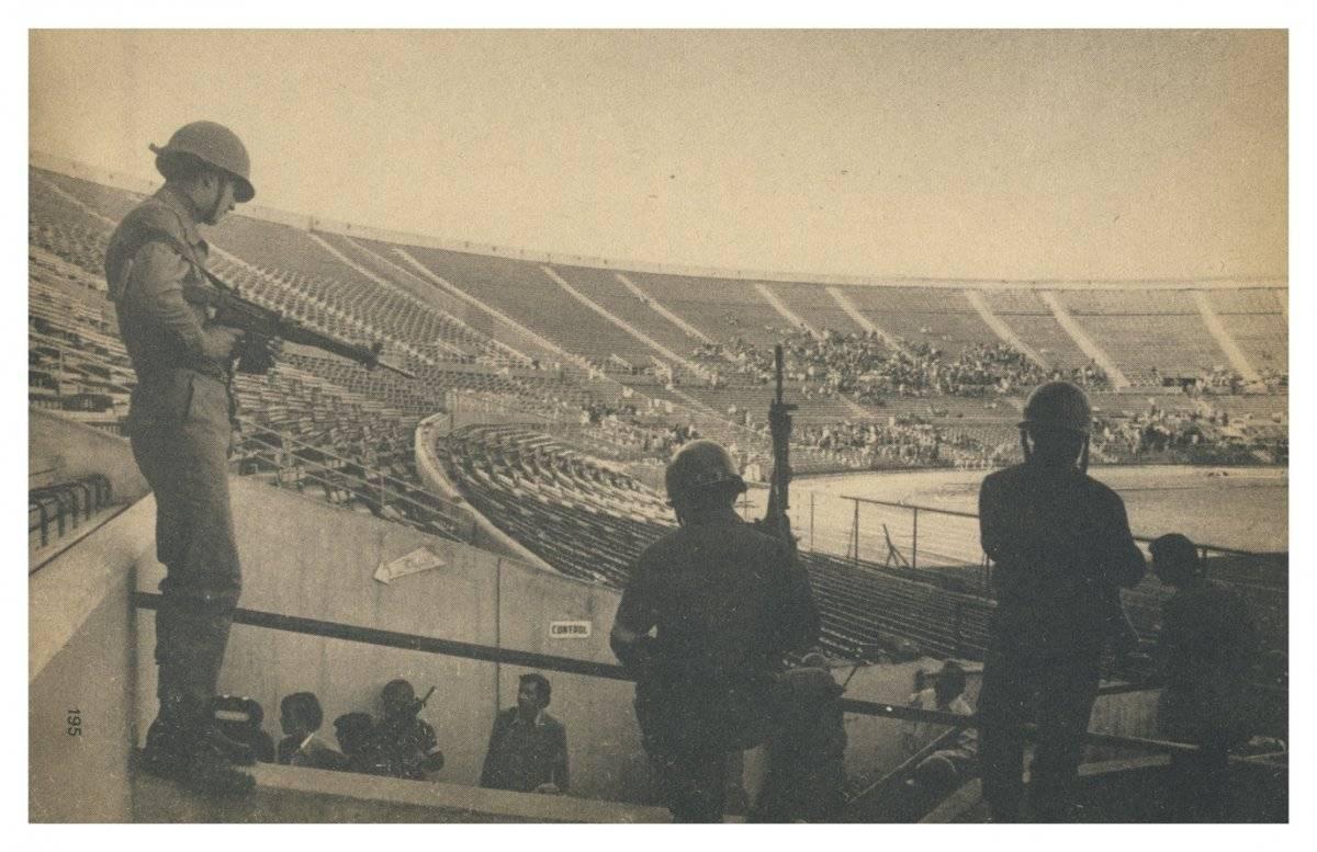 El Estadio Nacional estuvo habilitado como recinto de prisioneros hasta noviembre de 1973