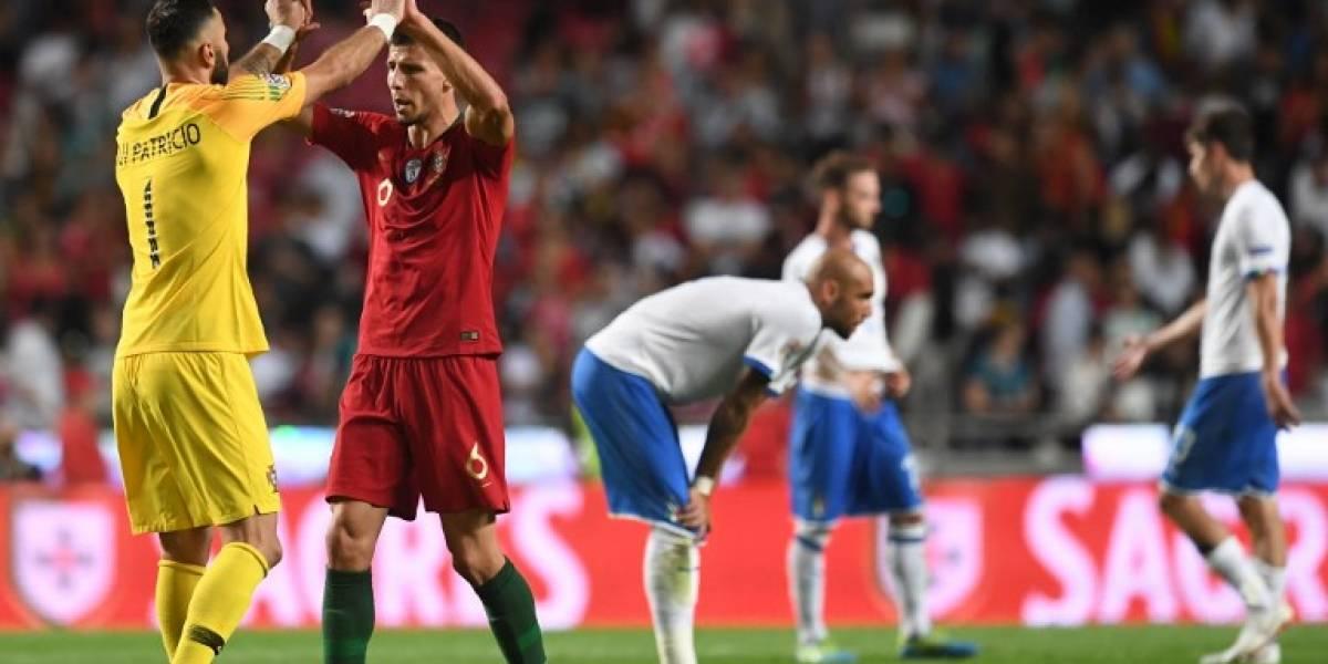Portugal, sin Ronaldo, derrota por la mínima a Italia