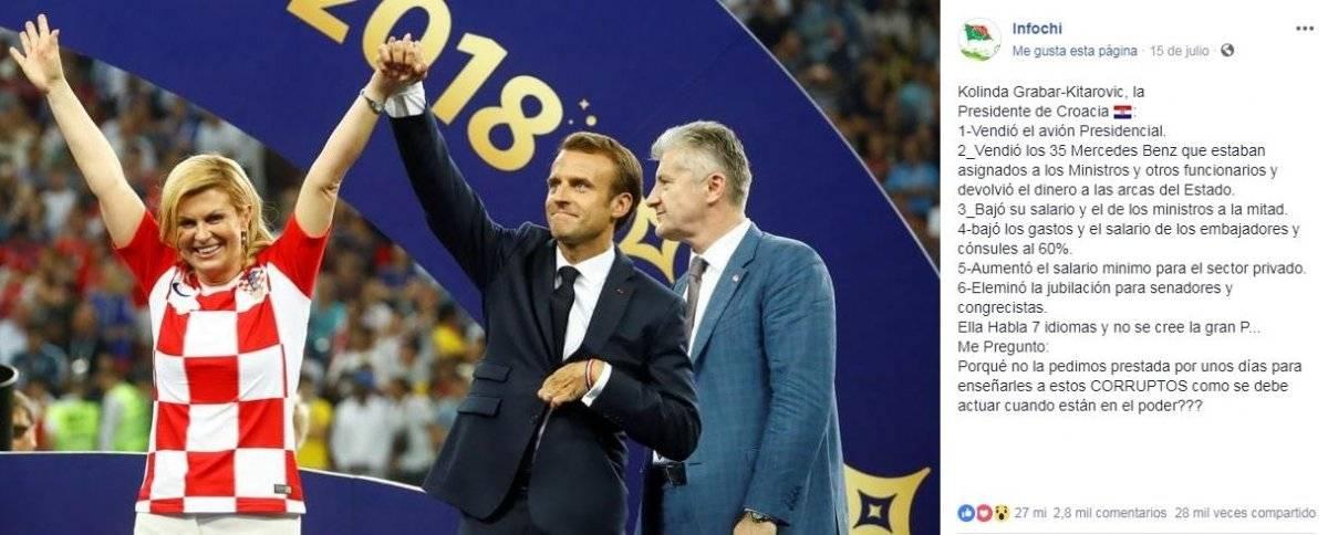 Kolinda Grabar-Kitarović y Emmanuel Macron