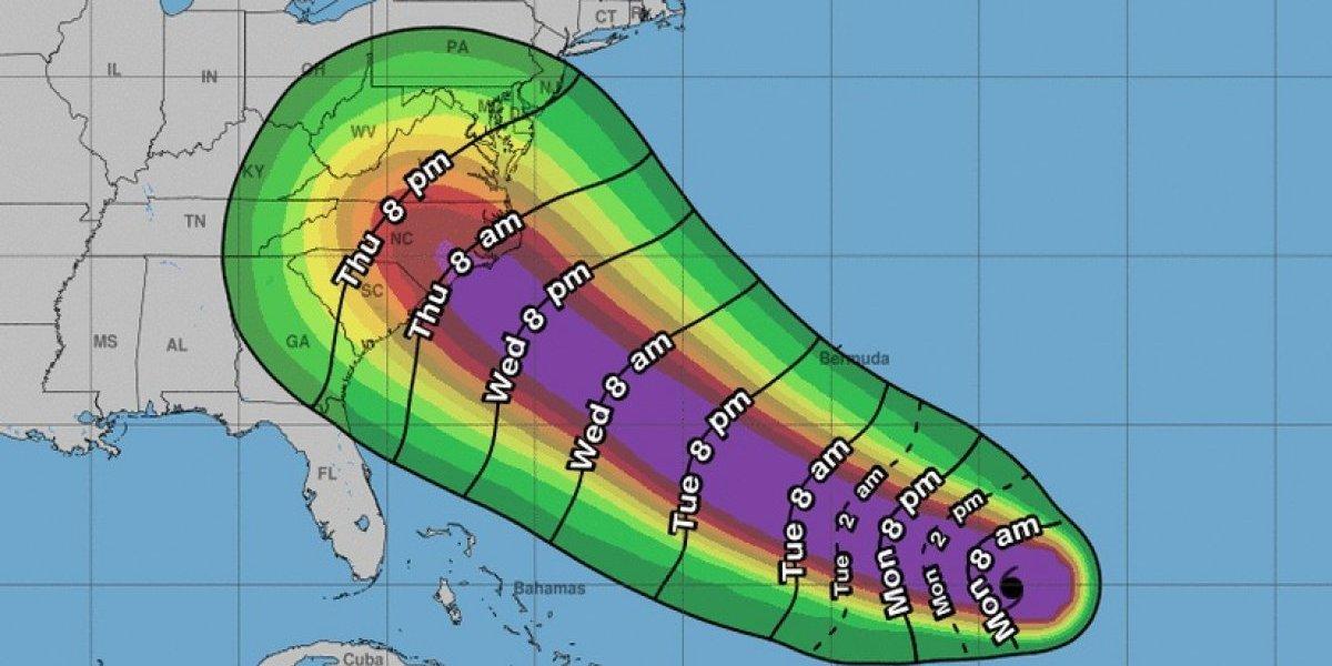 Florence a punto de convertirse en un fuerte huracán