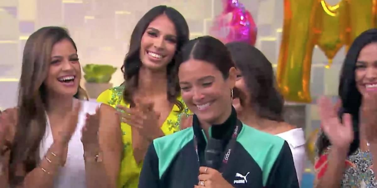 Sorprenden a Denise Quiñones en televisión