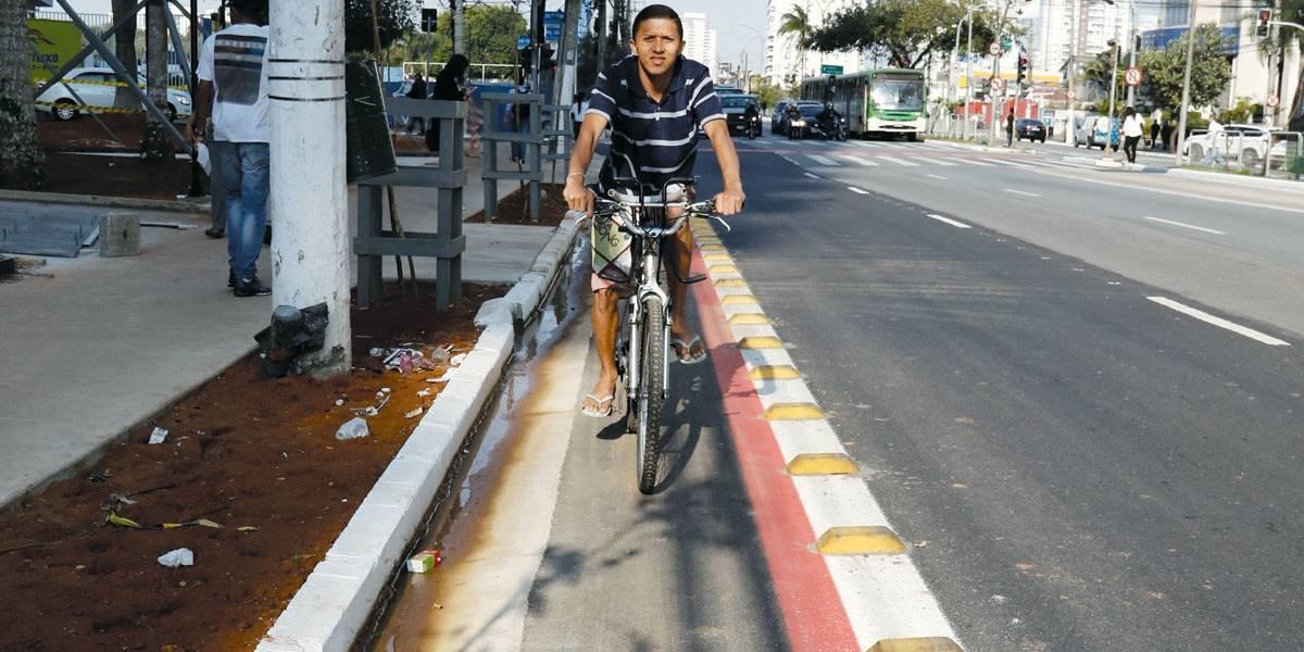 Novo padrão torna ciclovia mais 'discreta' em São Paulo
