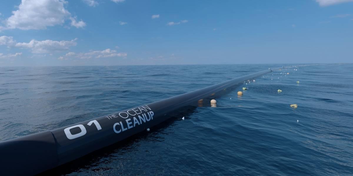 Una gigantesca red será utilizada para recolectar las miles de toneladas de basura que hay en el Océano Pacífico