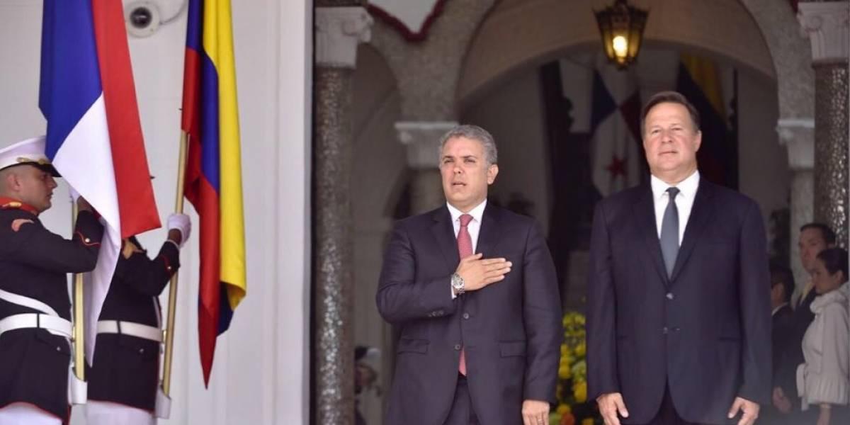 Presidente de Panamá recibe a Duque para iniciar encuentro sobre seguridad y comercio