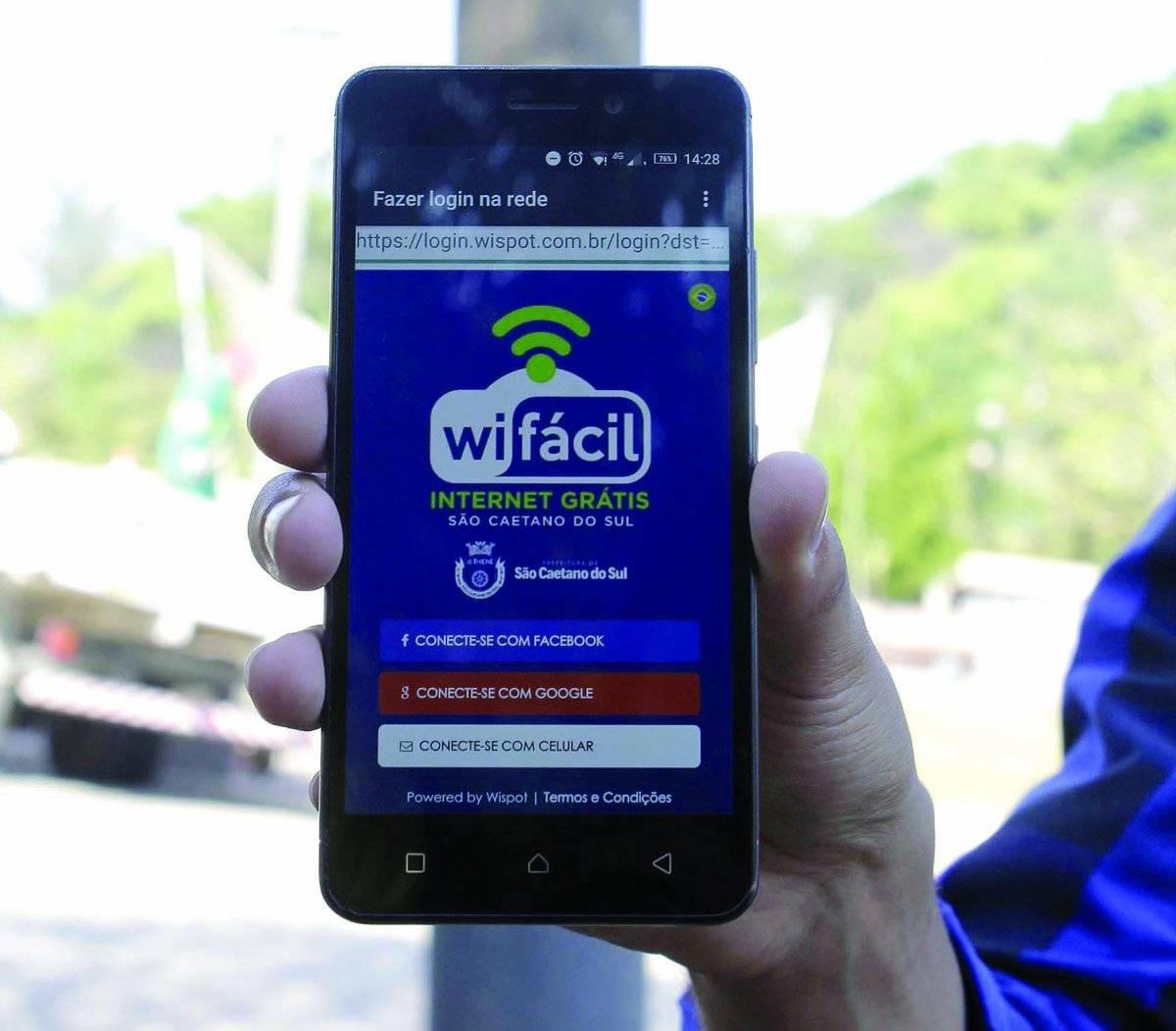 WiFi parques São Caetano