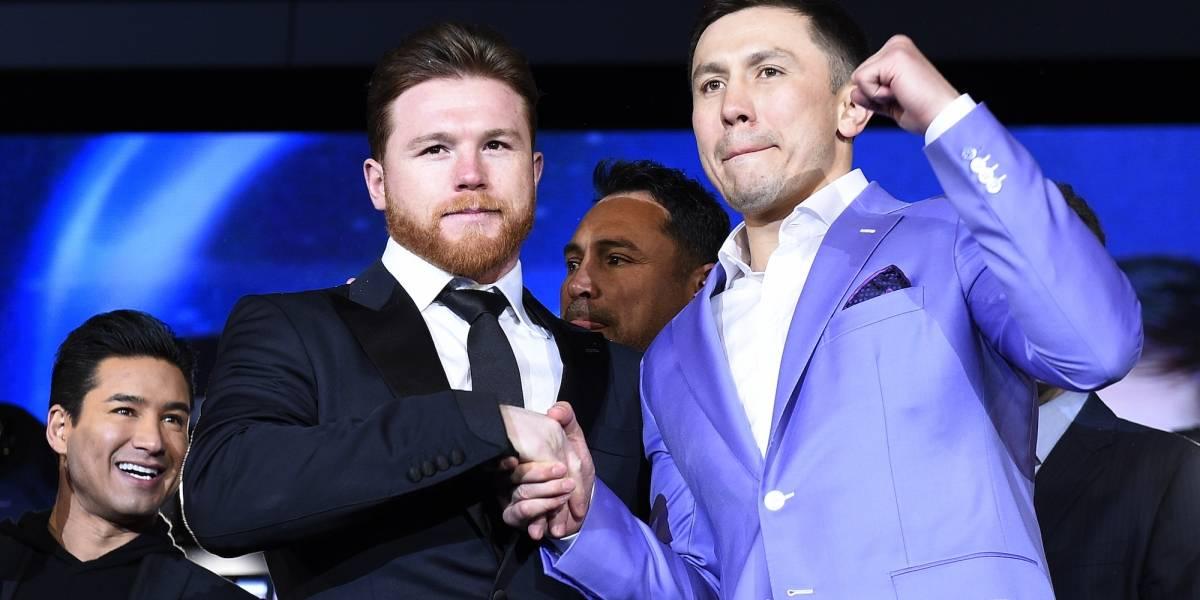 'Canelo' Álvarez y Gennady Golovkin ya están en Las Vegas