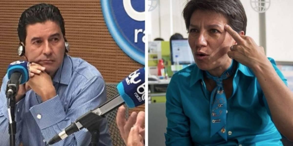 El tremendo agarrón entre Claudia López y Néstor Morales al aire