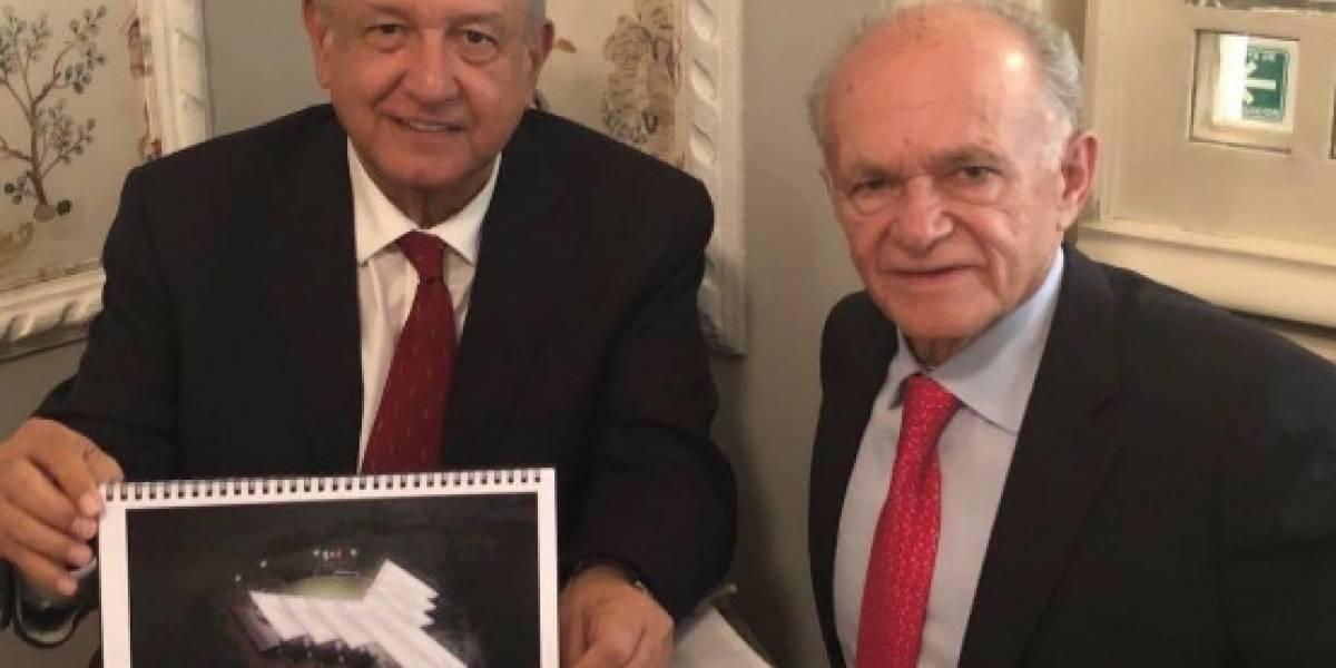 AMLO se reúne con el filántropo, Alfredo Harp Helú
