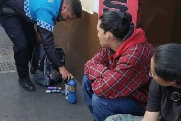 Dos detenidos por grafitear en el Centro Histórico