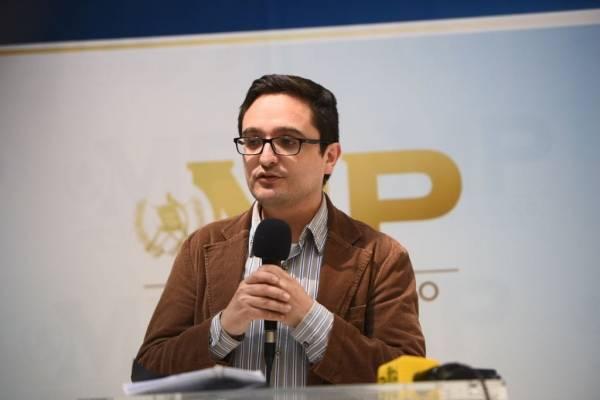conferencia por operativos del Ministerio Público y CICIG por corrupción en municipalidad de Quetzaltenango