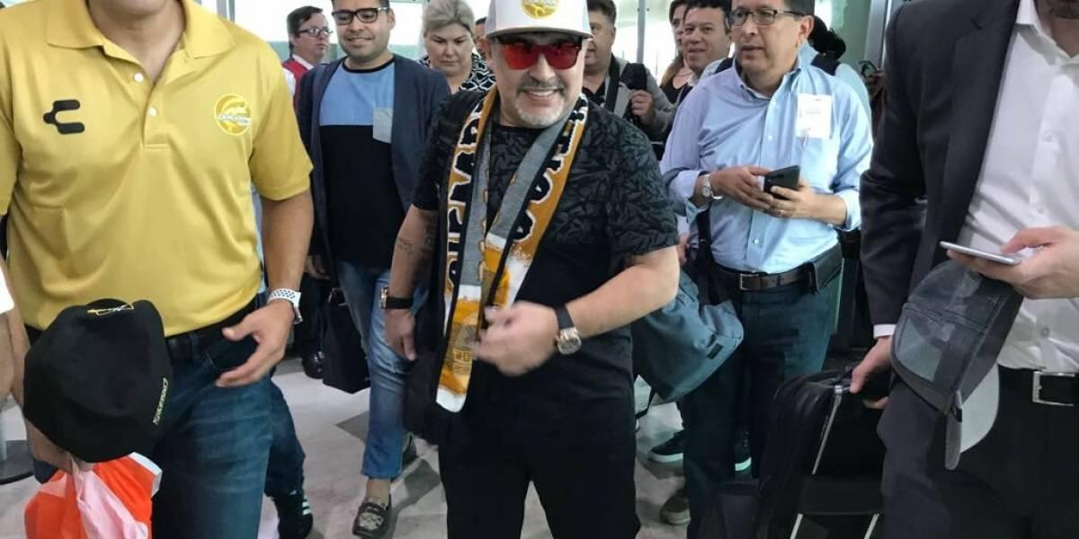 Diego Maradona llegó a Sinaloa, y su comportamiento bastante peculiar llenó la red de memes