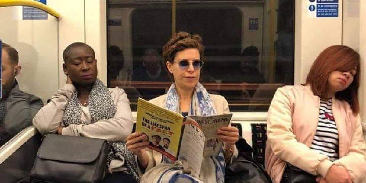 ¿Qué leía Karime Macías en el Metro de Londres?