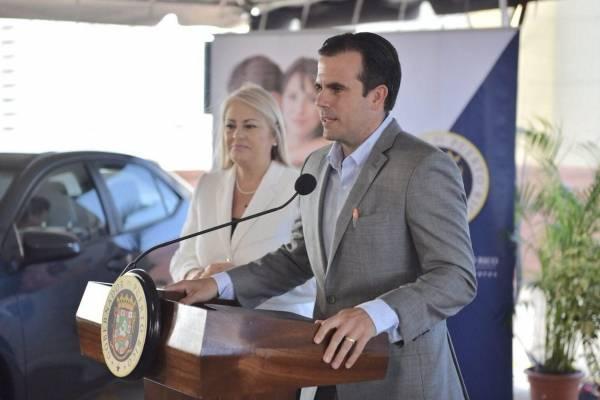 Wanda Vázquez, secretaria de Justicia y el gobernador Ricardo Rosselló realizan conferencia de prensa. Suministrada