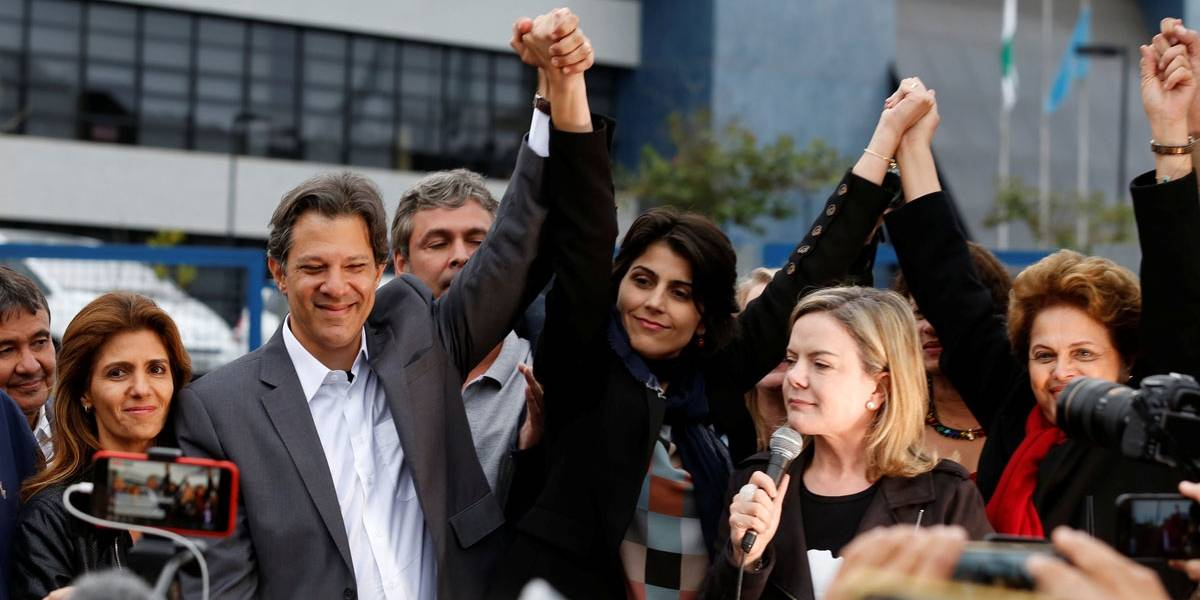 Gleisi confirma Haddad como candidato e Greenhalgh lê carta de Lula