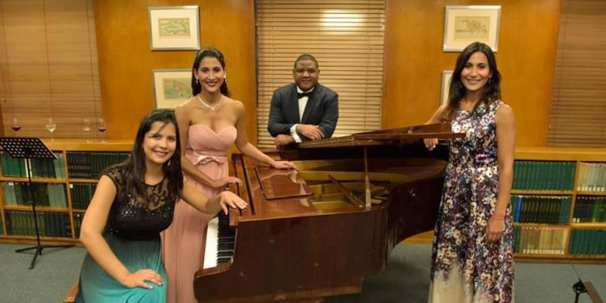 Las hermanas Peña Comas participaron en recital ofrecido por el Banco Central